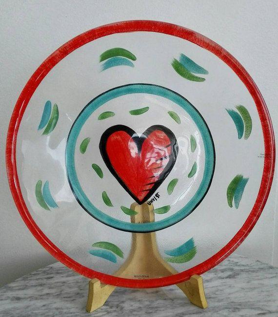 Mira este artículo en mi tienda de Etsy: https://www.etsy.com/es/listing/470833024/kosta-boda-heart-plate-by-ulrica-hydman