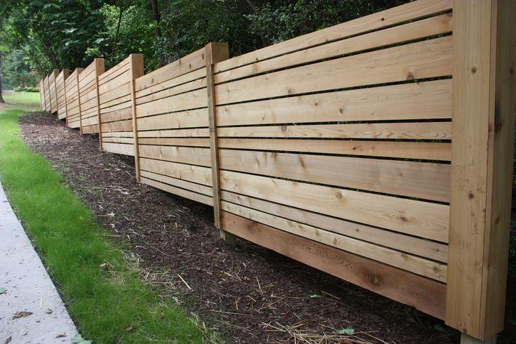 Horizontal Fence Ideas Front Yards