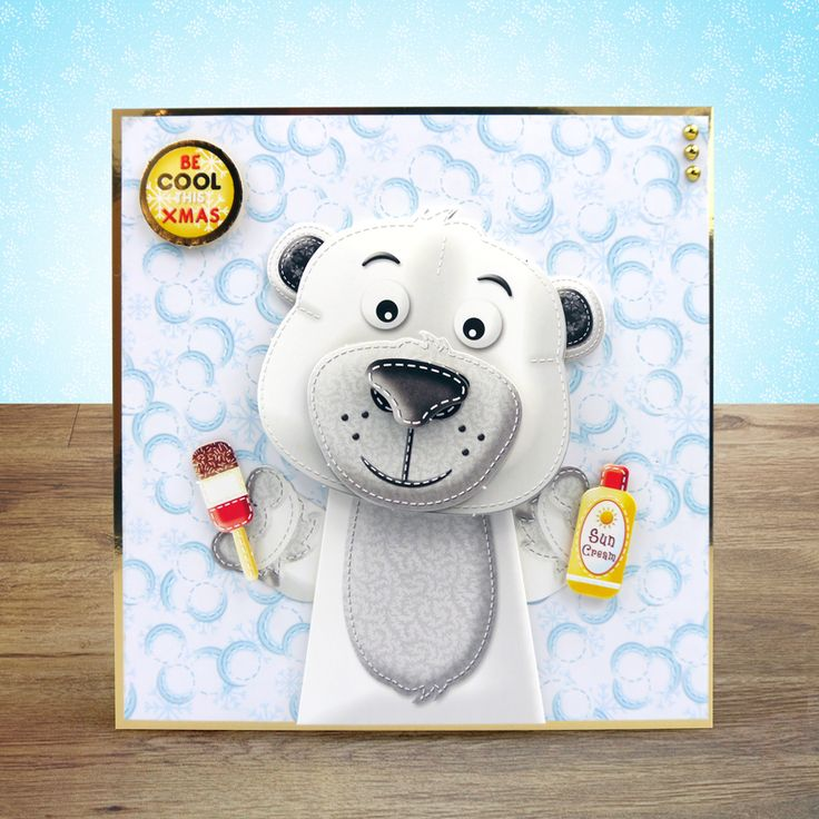 created from Hunkydory Crafts' Christmas Box Pops! - Snowball the Polar Bear & Chilly the Penguin