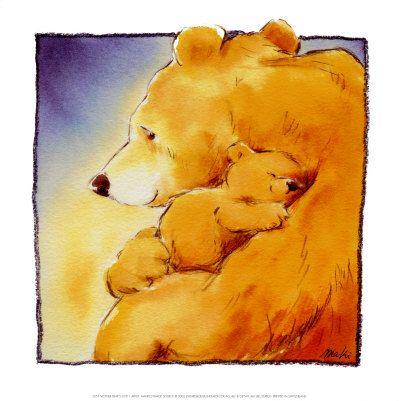 Mother Bear's Love I Posters por Makiko na AllPosters.com.br