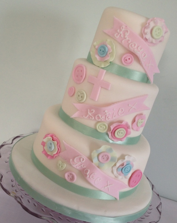 My daughters and neices joint christening cake
