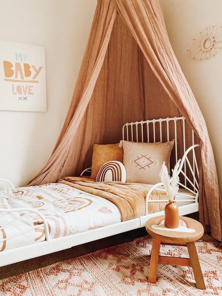 Bedroom For Girls Kids, Little Girl Rooms, Childs Bedroom, Kid Bedrooms, Rainbow Bedroom, Toddler Rooms, Toddler Bedroom Ideas, Toddler Girl, Boho Room