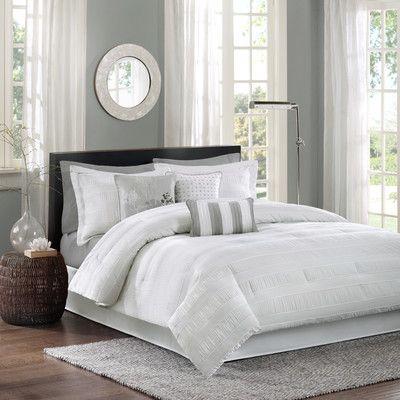 Madison Park Hampton Jacquard 7 Piece Comforter Set & Reviews | Wayfair