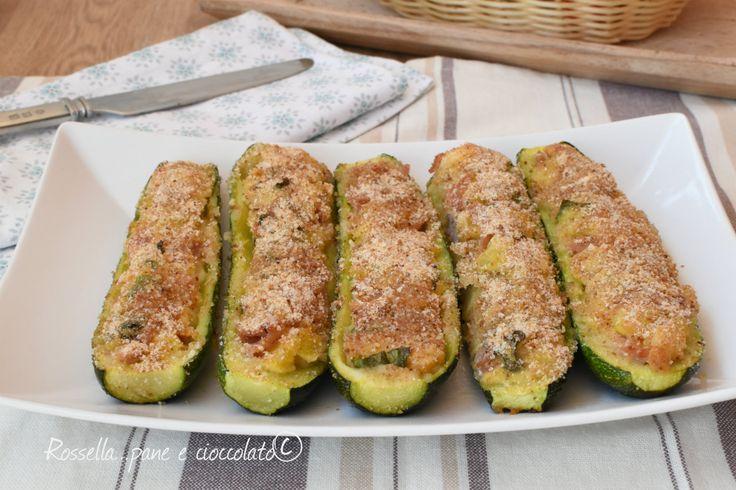 Zucchine+Ripiene+Prosciutto+e+Provola