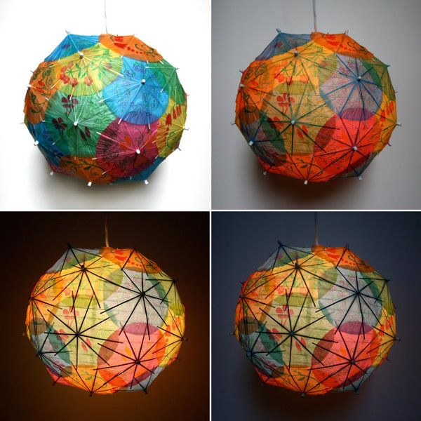 paper umbrellas + chinese lantern = cuteness. I want to make one, can't find directions :( -Sk