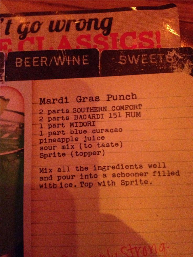 Joes Crab Shack Mardi Gras Punch