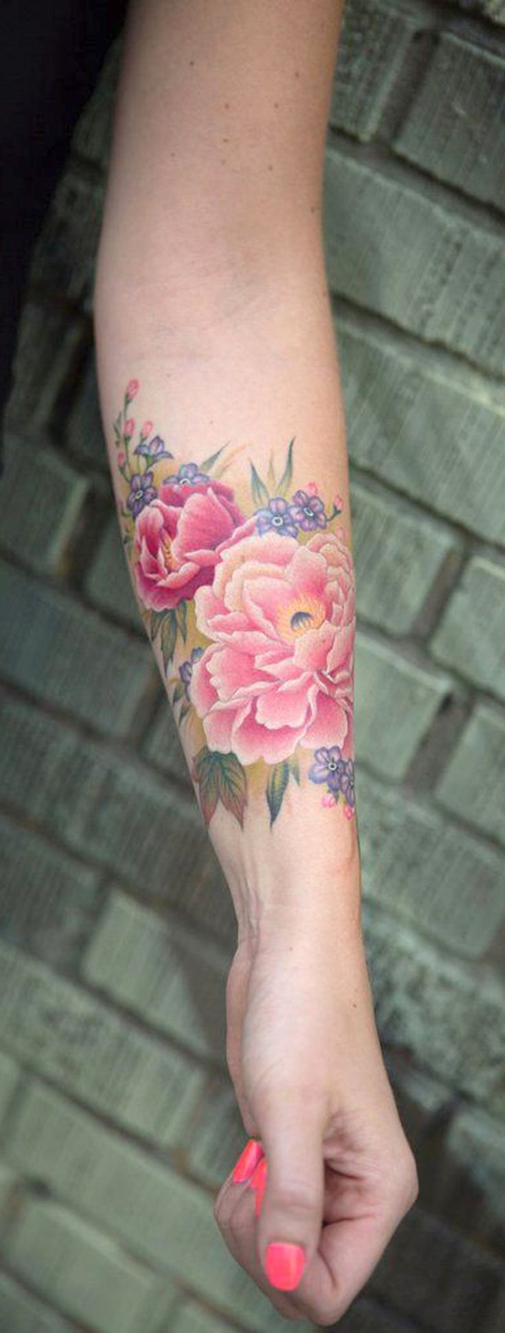 Best 25 watercolor tattoo sleeve ideas on pinterest for Forearm flower tattoos