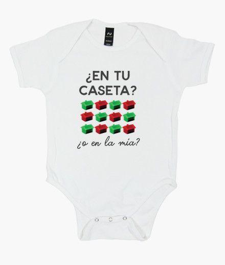 Camiseta Body bebé ¿En tu caseta o en la mía? Edición Feria de Sevilla