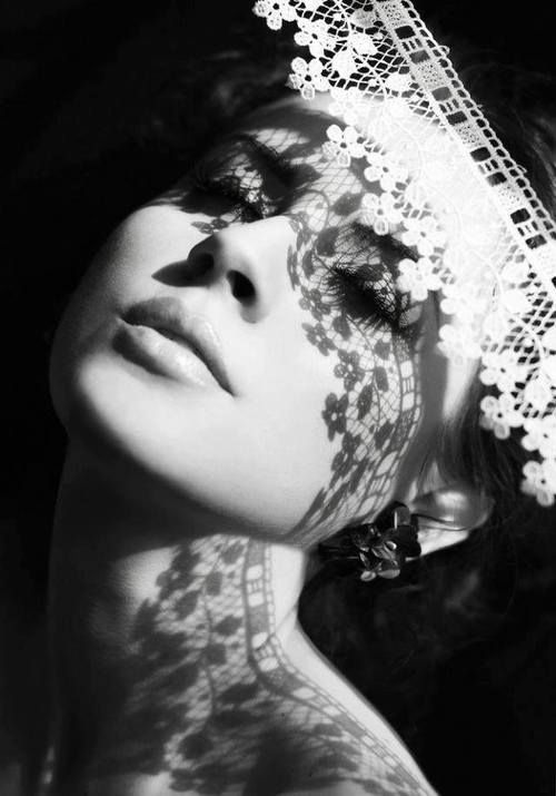 Black & White - lacy shadows -repinned by LA County, California photography studio http://LinneaLenkus.com  #portraiture