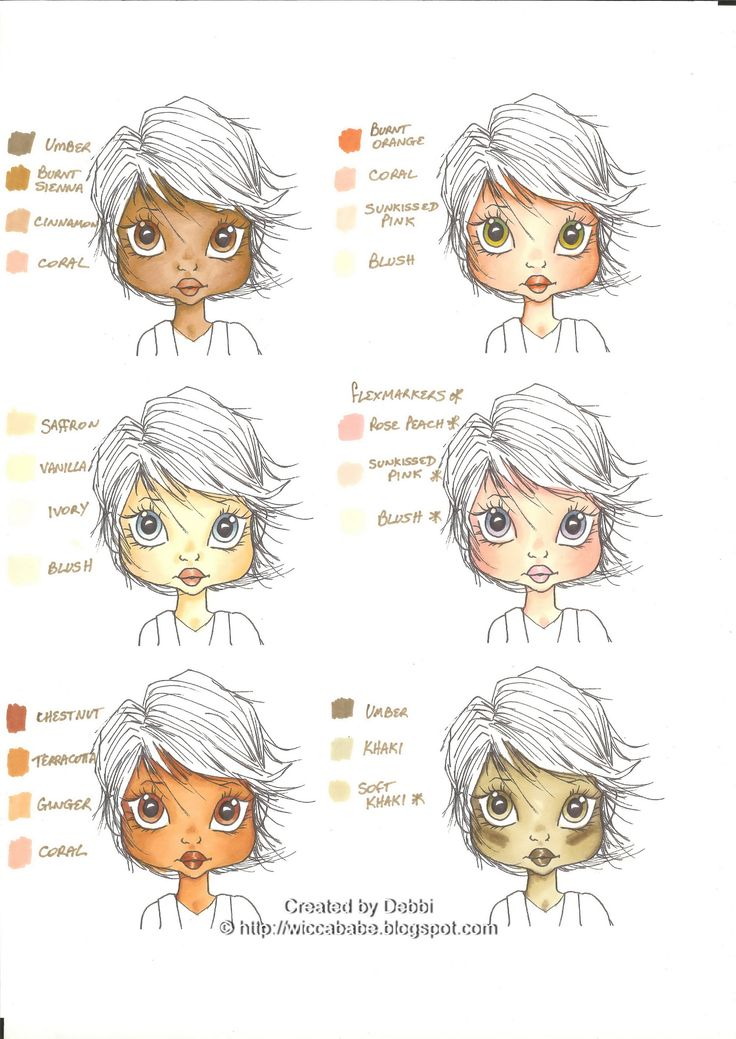 Skin Tone Combos for ProMarkers