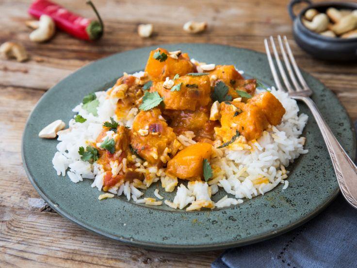 Kürbis-Kokos-Curry (mit einigen Abstrichen wie Pfeffer usw)