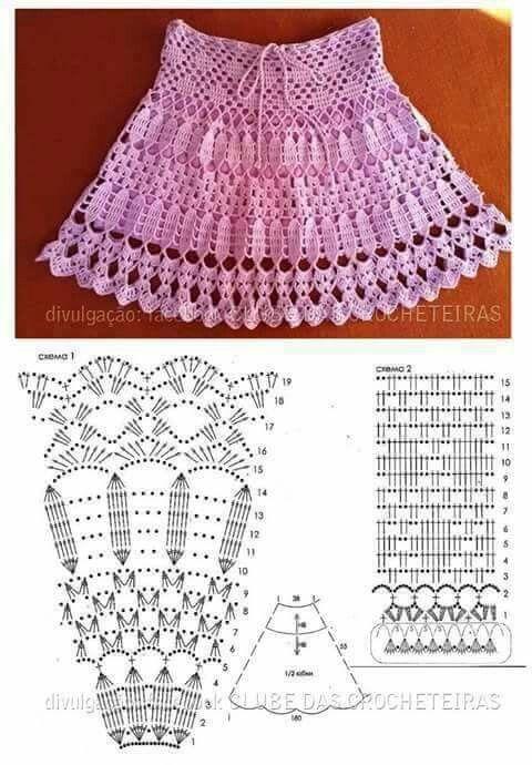 16 best ropa bebe images on Pinterest | Crochet skirts, Crochet ...