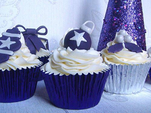 Cupcake decorati in blu