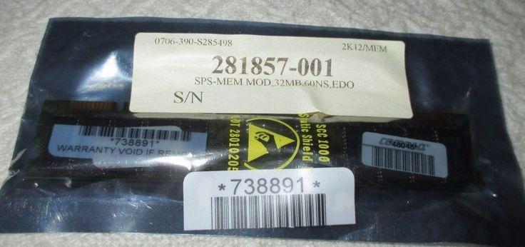NEW COMPAQ EDO 32MB DIMM MEMORY MODULE F/ HP PROLIANT 281857-001, NIP MINT #COMPAQ
