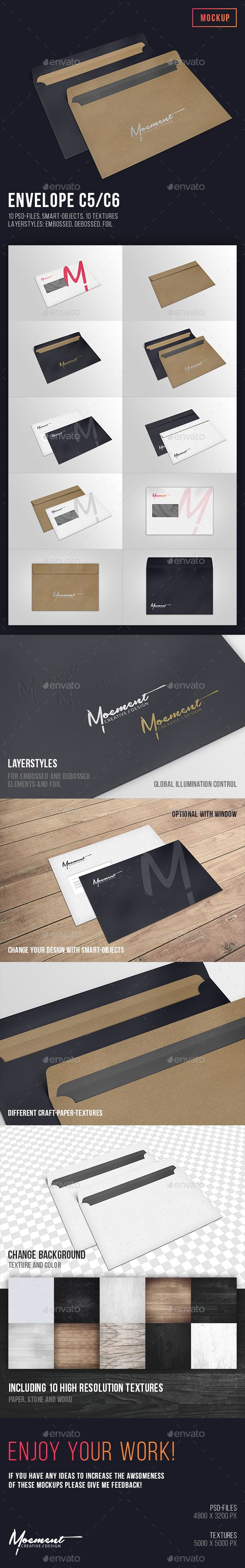 Envelope C5/C6 Mockup Download here: https://graphicriver.net/item/envelope-c5c6-mockup/19588130?ref=KlitVogli