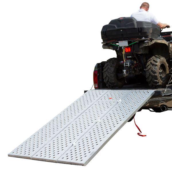 7 9 Long X 53 1 2 Wide Black Widow Aluminum Punch Plate Tri Fold Atv Ramp Discount Ramps Aluminum Ramp Atv Black Widow