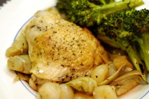 Braised Chicken Legs with Artichokes and Pearl Onions | Award-Winning ...