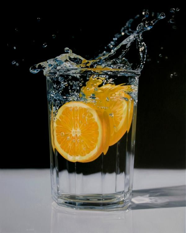 A wave of refreshment,Hyperrealism Paintings by Jason de Graaf - 50 Inspiring Examples of Water in Art  <3 <3