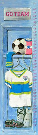 Girl's Soccer Locker Growth Charts
