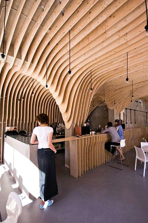 Artistic Cafe Interior Designs: Zmianatematu Coffee Shop by XM3 - Poland   DesignDaily