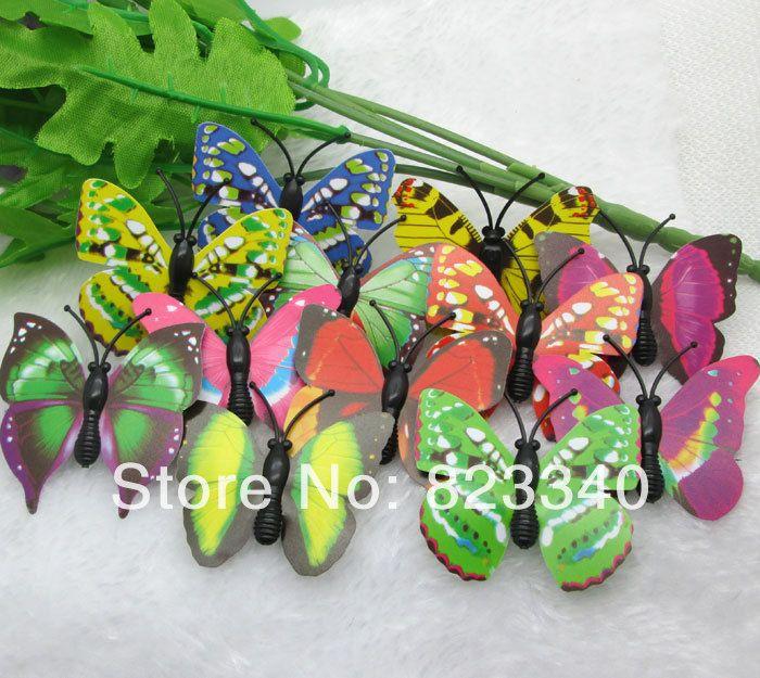 Главная сад свадебные украшения ремесла 50 шт. уолл декабря смешанная Mutilcolor искусственные бабочки наклейки главная украшение номера
