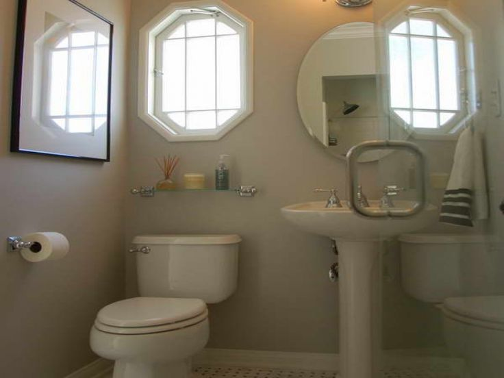 Bathroom Half Bathroom Decorating Ideas Using Two Windows Or Mirrors Complete With A Urinal At A Time Rustic Look Bathroom Decorating Ideas