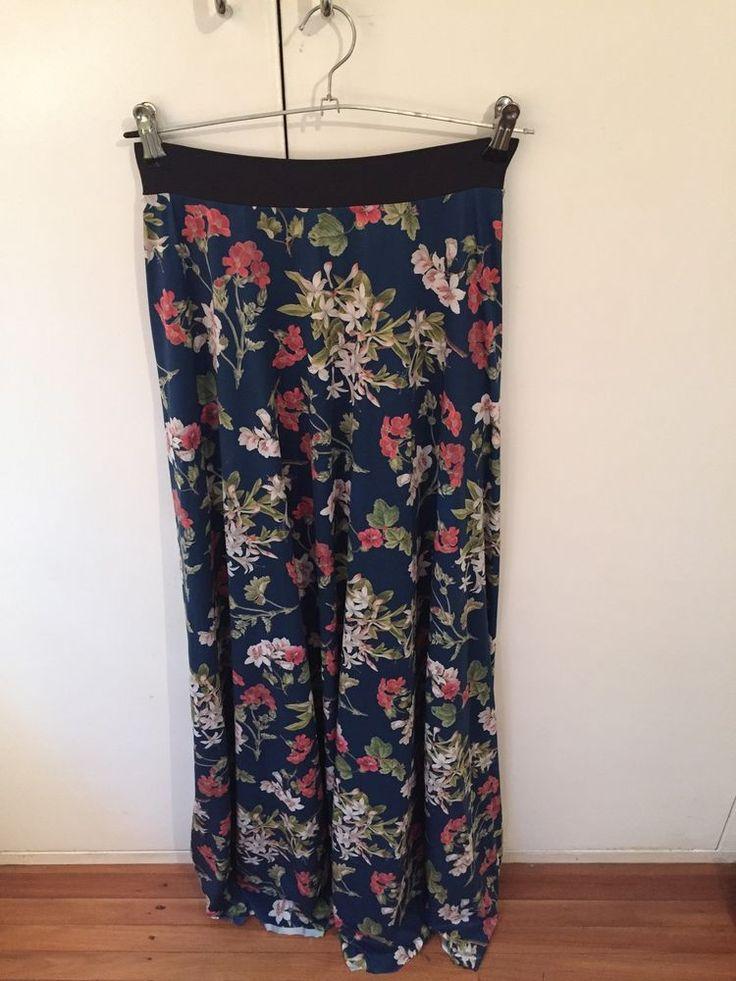 Gorgeous Garden Navy maxi skirt