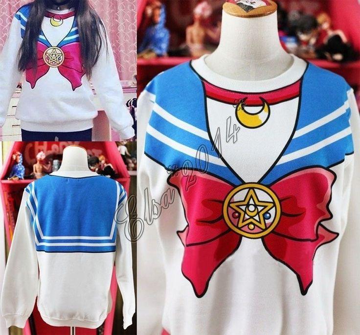 Sailor Moon Sweat - US $16.99 Women's Clothing, Sweats & Hoodies