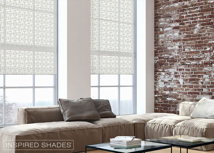 Light Filtering Custom Roller Shades In A Crisp Classic Pattern Brighten Complement Living