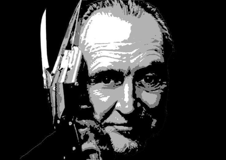 Wes Craven stencil  Follow Kreuzart on Facebook, Instagram and Youtube