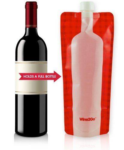 Wine2Go - The Foldable Wine Flask. Holds An Entire Bottle Of Wine: Amazon.co.uk: Kitchen & Home