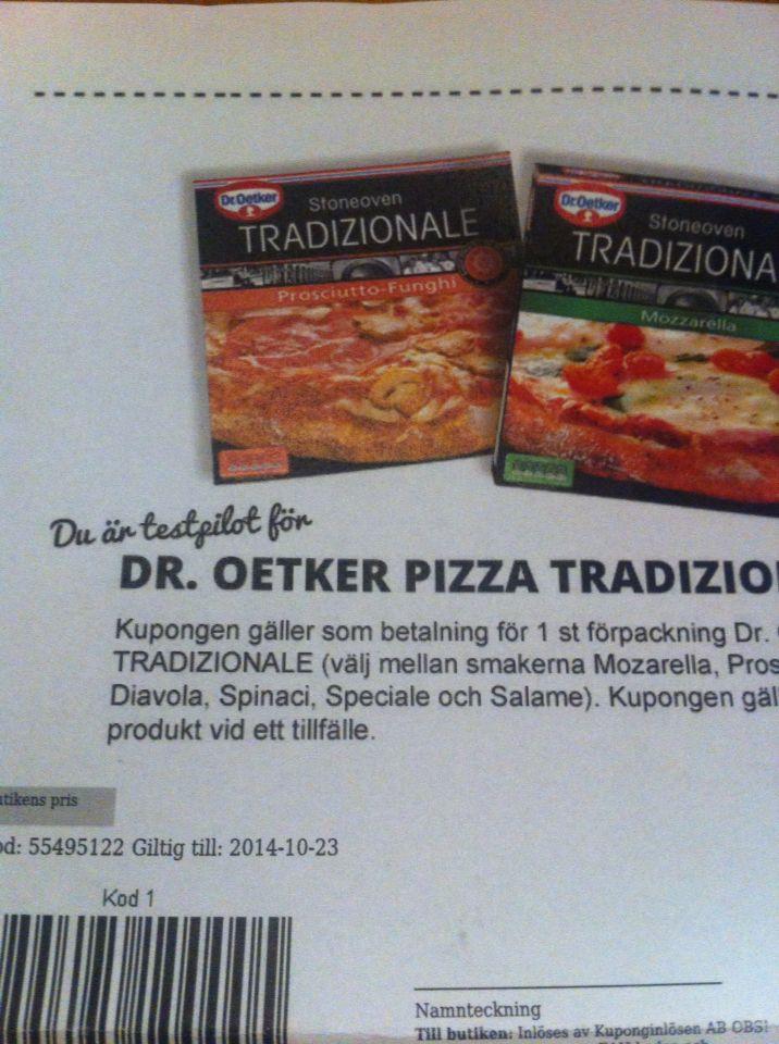 Test av dr oetker pizza traditzionale # droetker #smartson #traditzionale