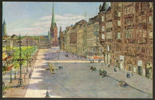 Jungfernstieg Hamburg postcard Max Ullmann 1910s