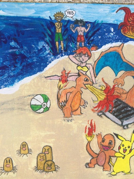 Pokemon collectible art-Pokémon poster-Pokémon wall art- Pokémon fan art - one of a kind pokemon fan art