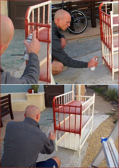 Painting changing table