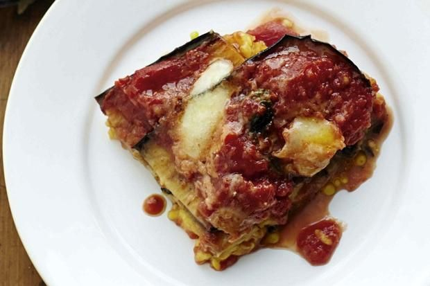 Gino D'Acampo's recipe for baked risotto with aubergine, basil and mozzarella