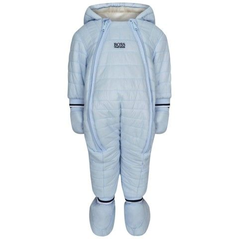 bab88618 BOSS Baby Boys Pale Blue Snowsuit | BOSS Kids AW15 | Snow suit, Boss baby, Baby  boy