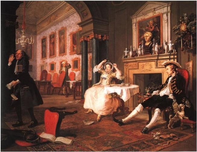 결혼직후 장면, 호가스. 피로연이 다 끝나고, 실내는 난장판이고, 신랑 신부는 지쳐서 늘어졌다. 큰 일을 마친 뿌듯함도 느껴지는 것 같다.