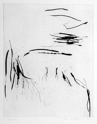 Lee Ufan, From Port 1 (22/50), 1985,  Drypoint, 29.2x23.5cm