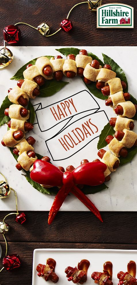 Got a holiday party coming up? Make a festive centerpiece that's edible, too! A Lit'l Smokies Wreath is a fun and delicious way to liven up any spread. Find instructions and more inspiration here!