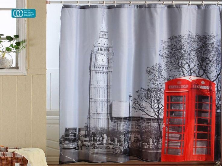 #cortinas para #ducha #london #londonfashion https://www.catayhome.es/categoria/cortinas-de-bano/