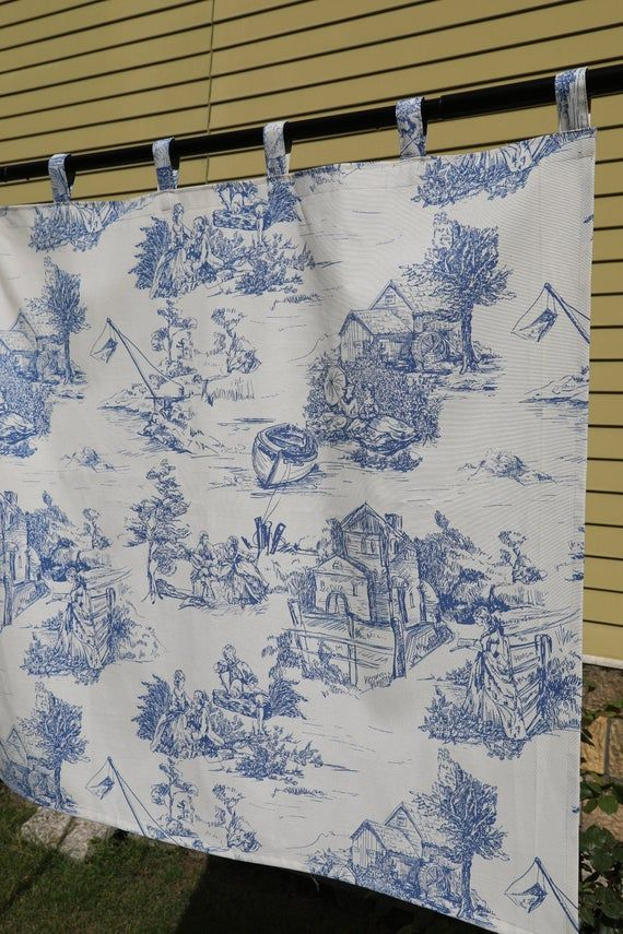 Toile Curtains Blue Curtains French Toile Custom Curtains Living