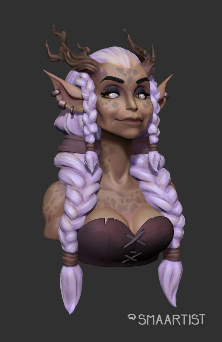 Nymph Bust, Stephen Anderson on ArtStation at…