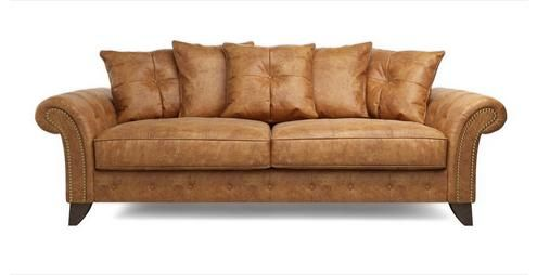 Navarro 3 Seater Pillow Back Sofa Outback | DFS