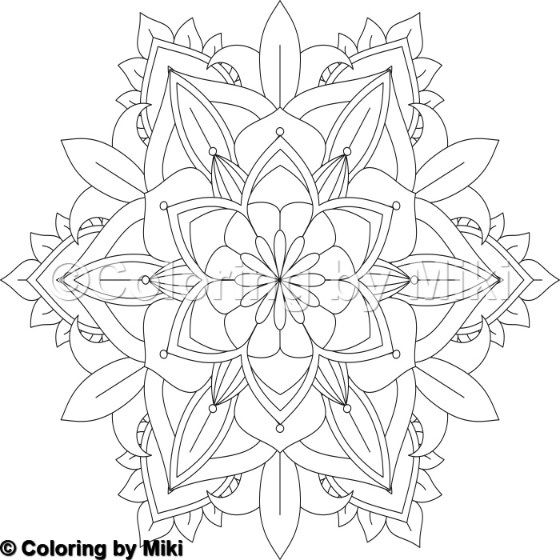 Flower Mandala Coloring Page #8