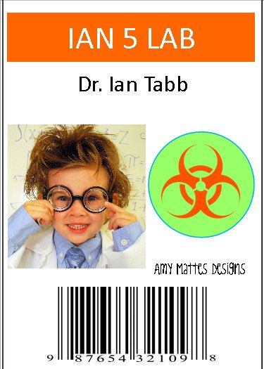 Welcome to A Boys Life!    {SCIENTIST BADGES}    This cute personalized badge is perfect for the birthday boy! Personalize it with a pic! Black and