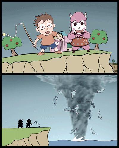 "Animal Crossing - Sharknado  ""Live every week like it's Shark Week."" Tracy Jordan comic by John Pading"