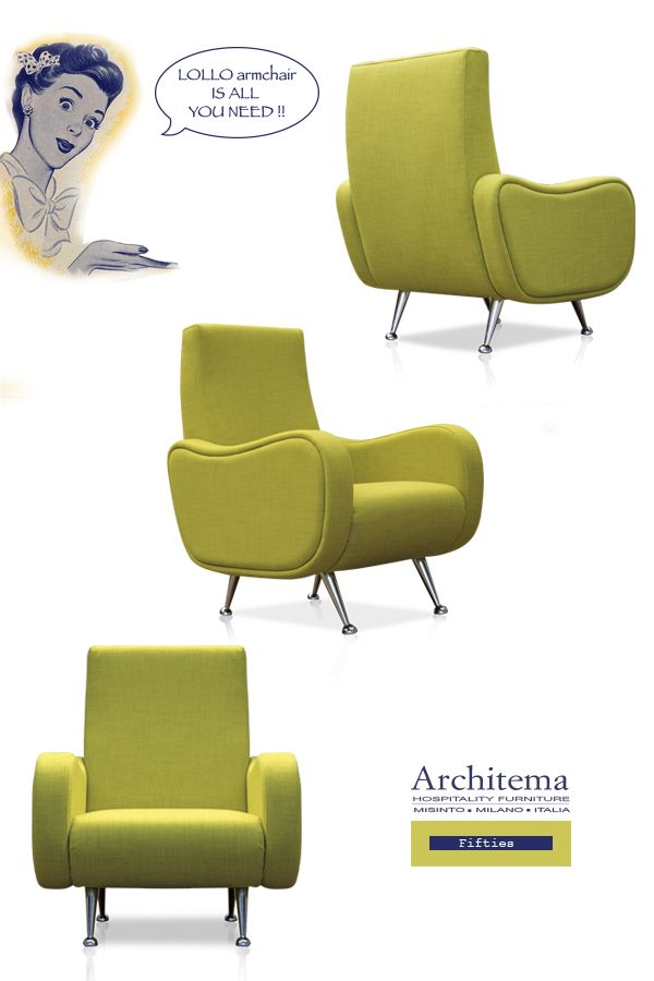 ARCHITEMA - LOLO armchair in FIFTIES style
