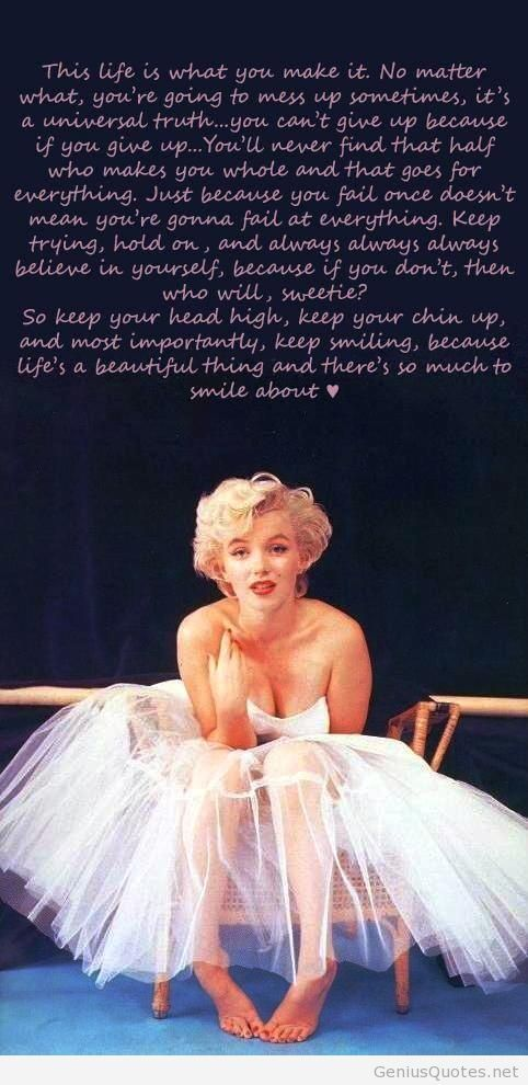 Image wallpaper with Marilyn Monroe quote