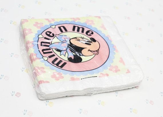 Vintage Minnie n Me Luncheon Napkins Disney Minnie Mouse